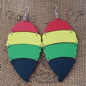 Rasta Leaf Earrings